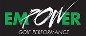 EMPOWER GOLF PERFORMANCE logo_blk bkgrnd