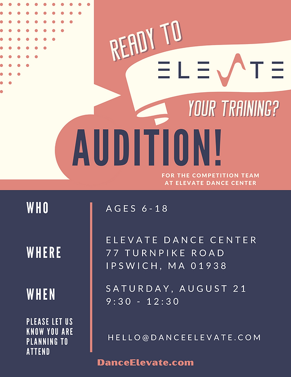 Elevate Dance Center Competition Team Auditions