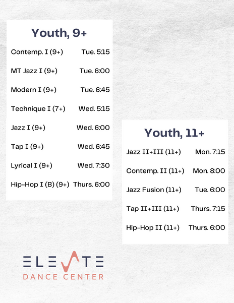 Classes for Youth at Elevate Dance Center in Ipswich