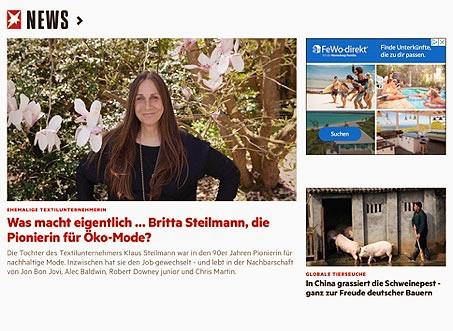 stern berichtet über Britta Steilmann und ihre School of Consciousness
