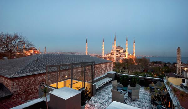 Blaue Moschee, Topkapi Palast, Hagia Sophia: die spektakuläre Aussicht vom Hotel Ibrahim Pasha