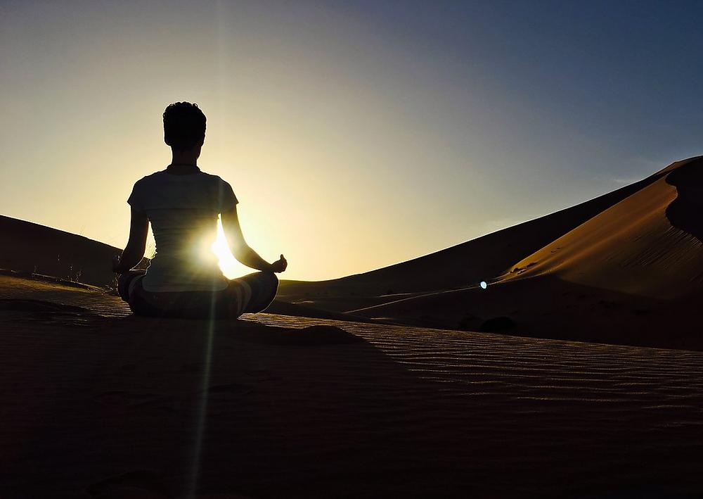 Retreat in der Wüste von Marokko