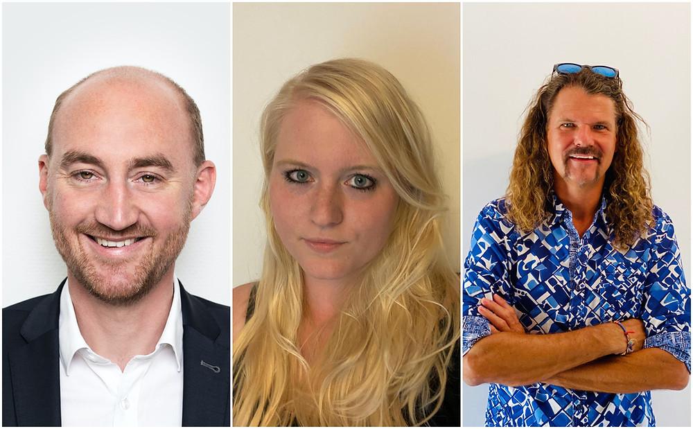 Das ReiseRecht-Team Stefan Pape, Jenny Keweloh, Sven Slezák