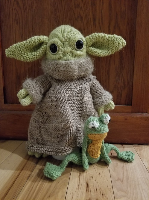 The Little Green Baby and Frog Knitting Pattern