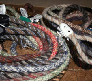handcrafted wool/alpaca leashes