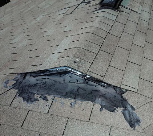 Tarred roof