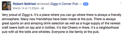Ziggy's Corner Pub Neighborhood pub Review