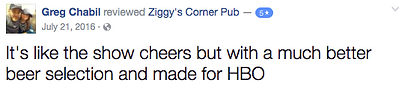 Ziggy's Corner Pub Review
