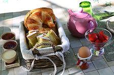 Le petit déjeuer bio au Mas