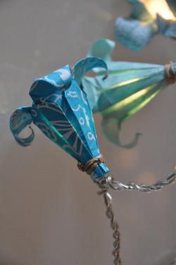 guirlande origami fleurs de lys