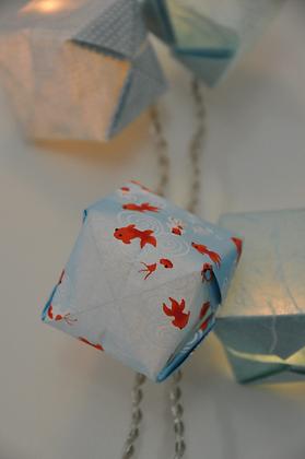 Guirlande cubes Shushi Blue