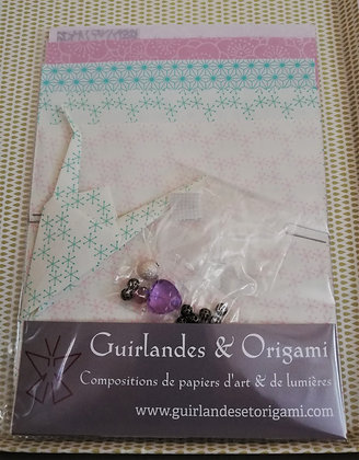 Kit 7 grues Mino Washi Rose