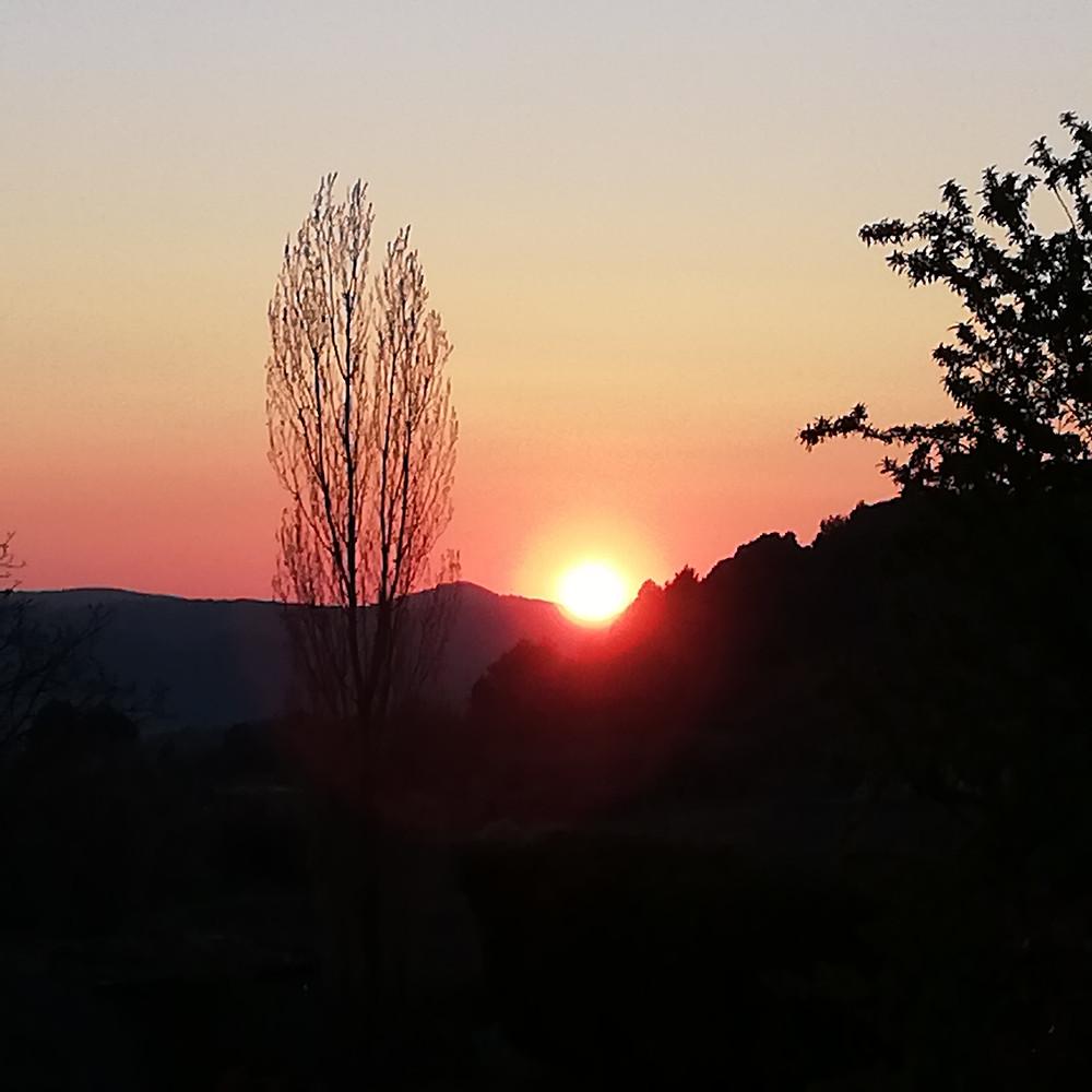 Couché de soleil au Mas