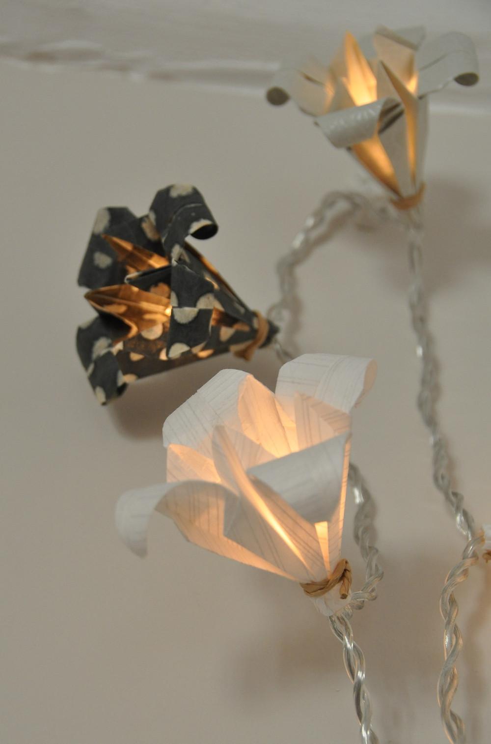 Guirlande lumineuse de mini lotus