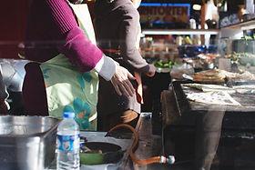 Woman Cooking Turkish Gozleme