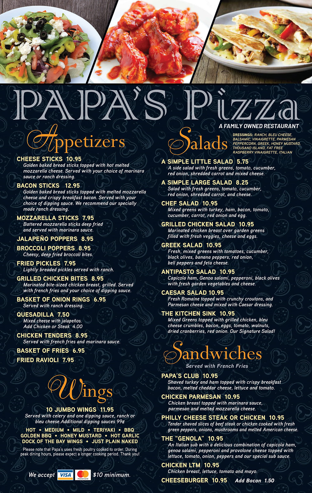 Papa's Pizza - Dine In Menu 4-21  PROOF