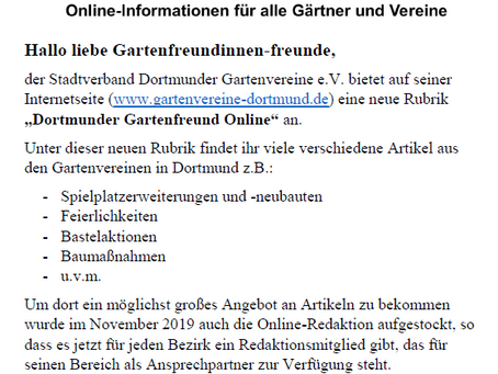 Info Stadtverband