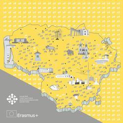 Lithuanian map wall