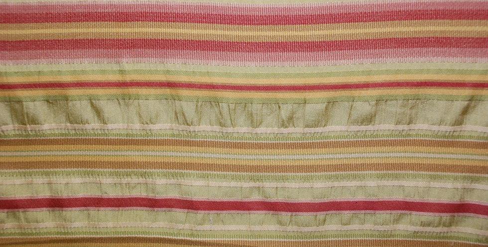 Pink Green Textured Stripe