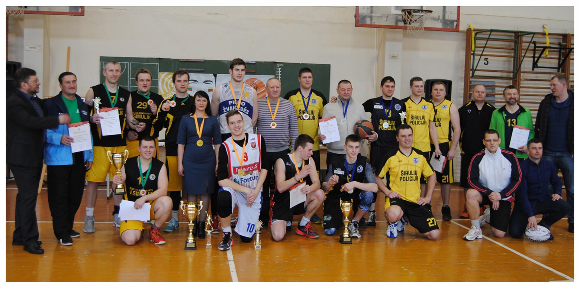 Winners of the basketball match