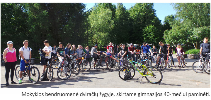 Bike ride_'Saulėtekio' gymnasium -40 years celebrationg