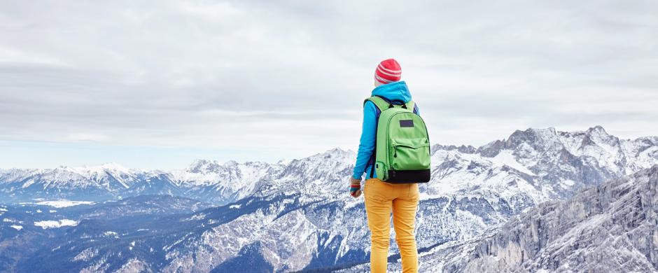 Das Ziel einen Berg zu besteigen. Visuelle Ziele helfen bei der Motivation