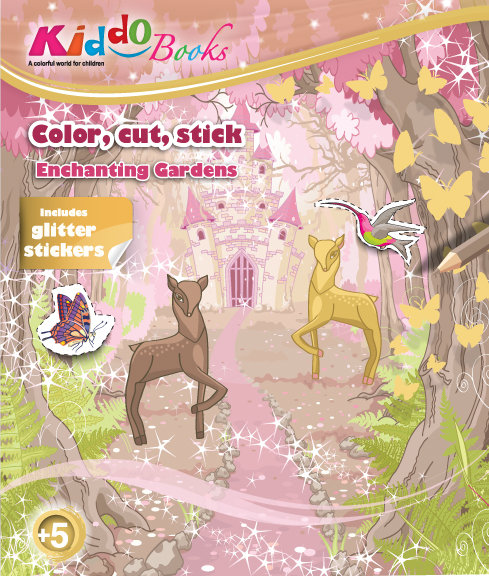 6009  Enchanting Gardens-With glitter stickers