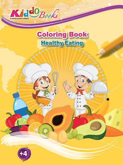 4027 Healthy Eating-Coloring book
