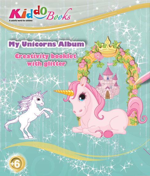 6014  My Unicorns Album-With glitter