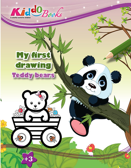 4022  Teddy Bears-My first drawing-for Toddlers