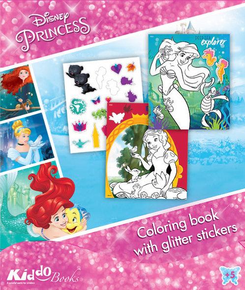 9058  Disney Princess-With glitter stickers