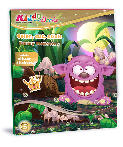 6005  Funny Monsters-With glitter stickers