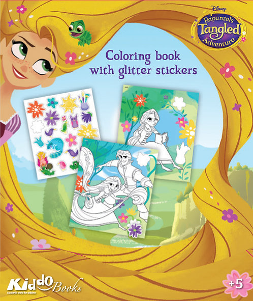 9055  Tangled-With glitter stickers