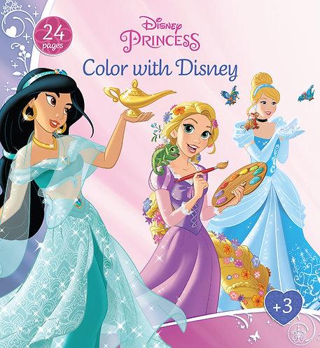 1121  Disney Princess – Color With Disney – 24 pages