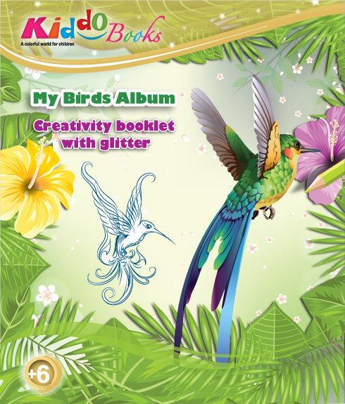 6013  My Birds Album-With glitter