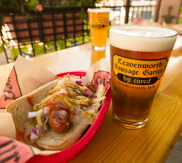 The Leavenworth Sausage Garten is Featured on Seattle Times!