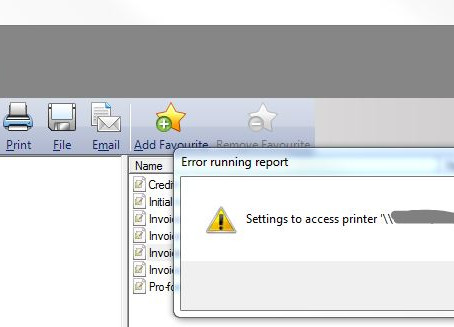 Sage Settings to access printer are not valid – Solved