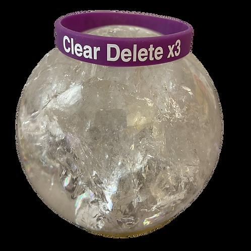 Clear Delete Rubber Band Bracelet