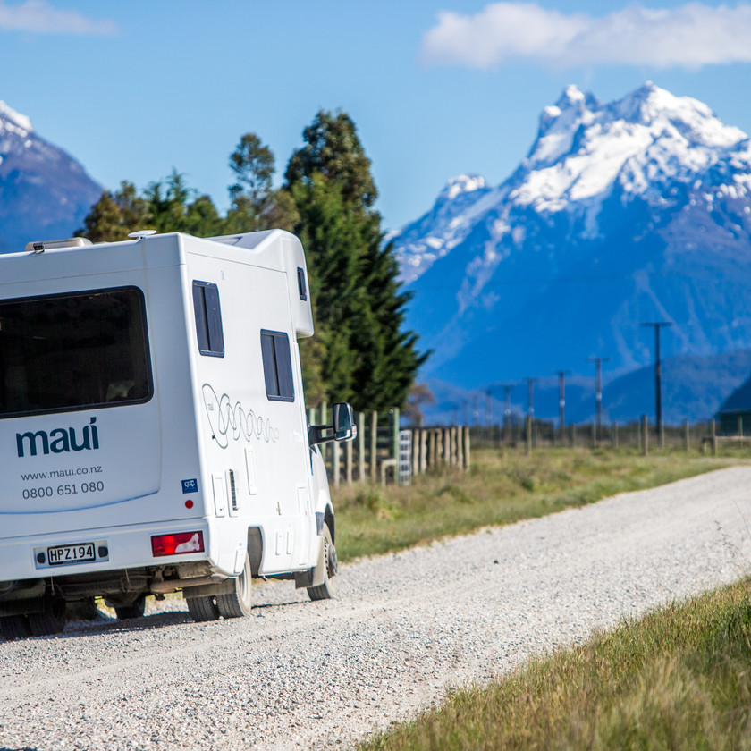 Travelling around New Zealand by a campervan