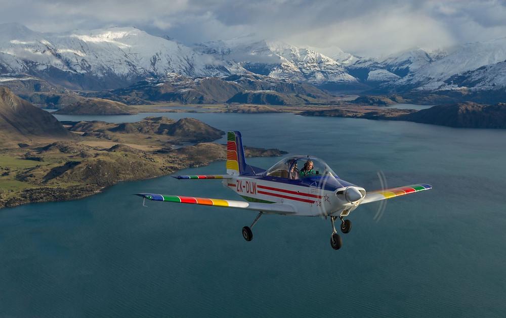 полет на самолете с двойным управлением, Вонака, Новая Зеландия, туры в Новую Зеландию