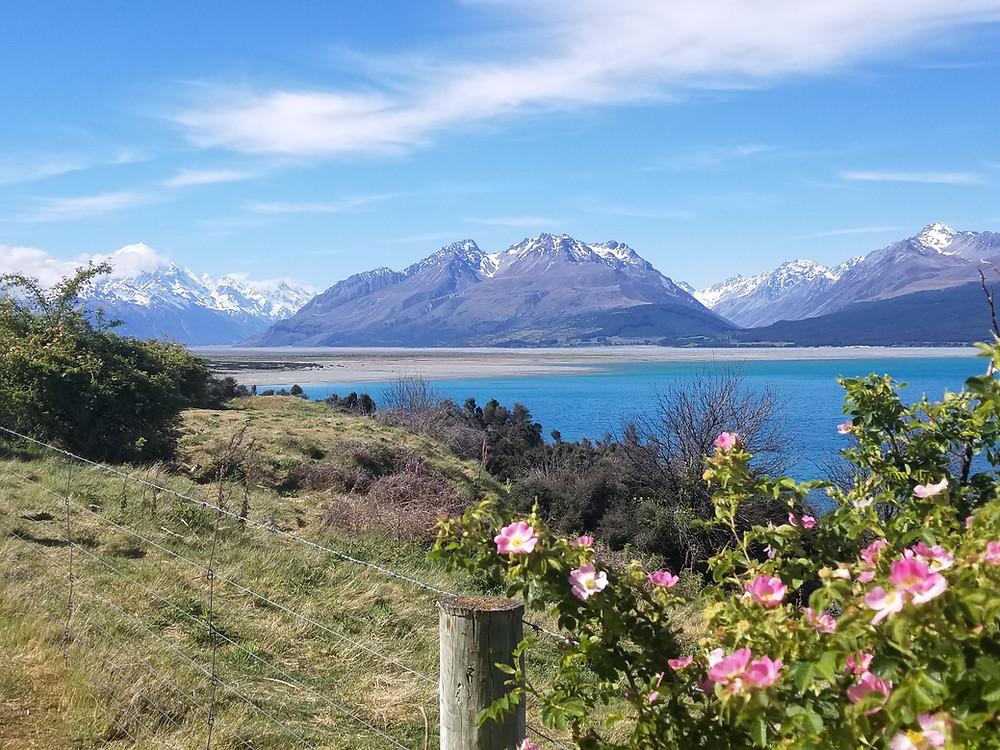 Гора Кука и озеро Пукаки, Новая Зеландия