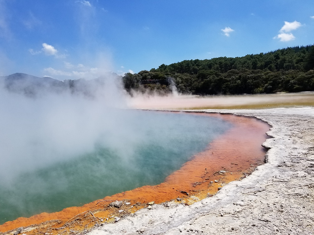 Champagne pool in Wai-O-Tapu geothrmal park, New Zealand