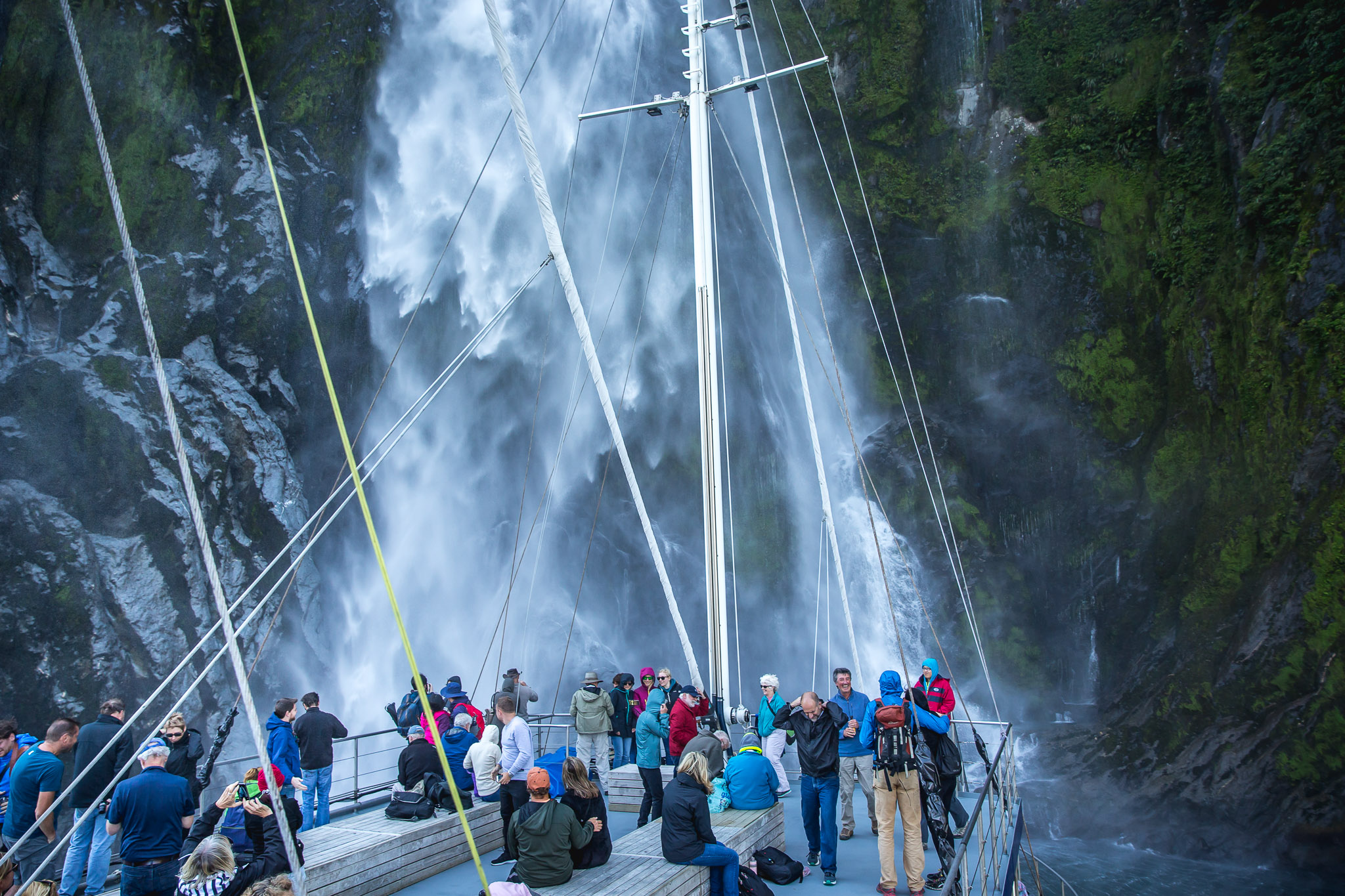 Waterfall in Milford Sound, Fiordland, New Zealand attractions, New Zealand activities
