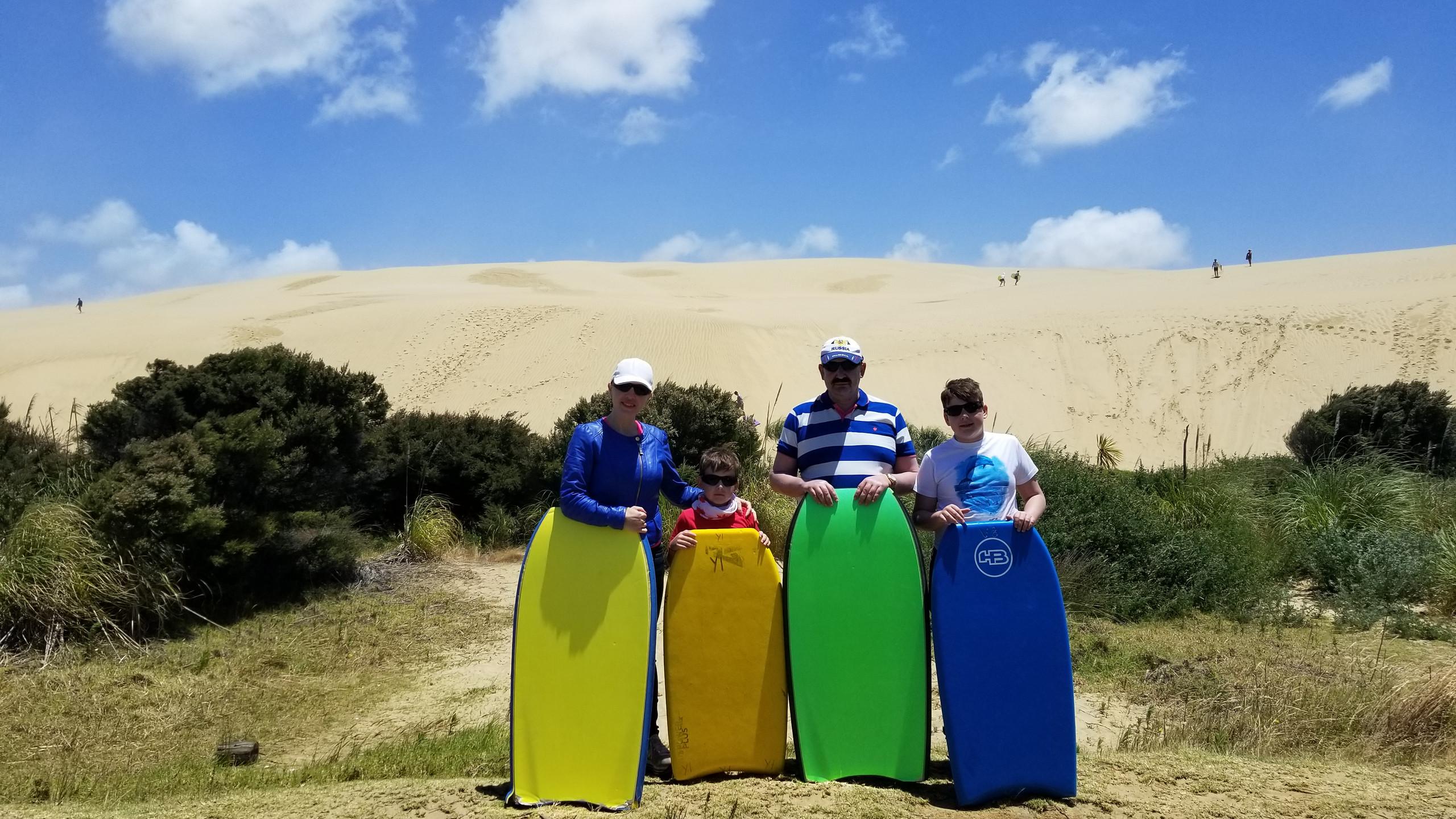 катание с дюн на мысе Реинга, Новая Зеландия, туры в Новую Зеландию