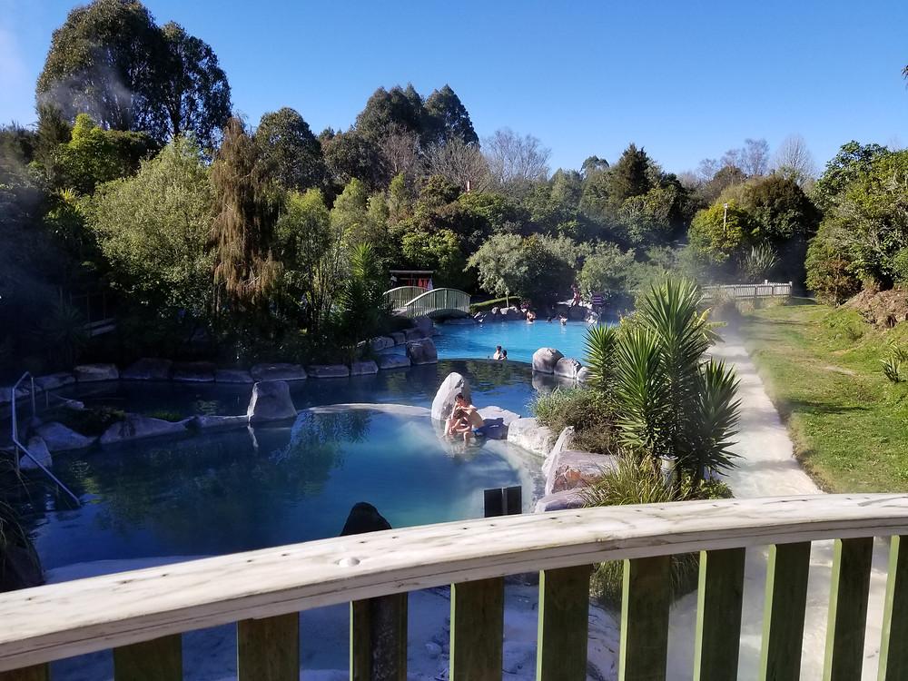 СПА-комплекс Террасы Вайракей, Таупо, Новая Зеландия. Тур в Австралию и Новую Зеландию.