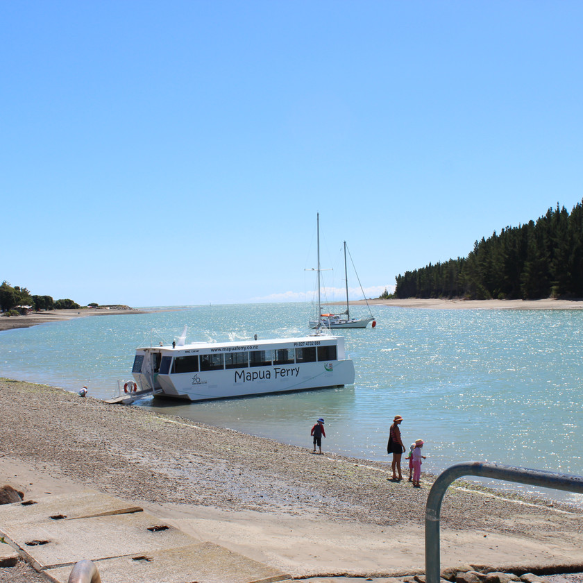 Water taxi in Abel Tasman national park New Zealand