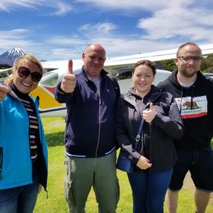 После полёта над вулканами нацпарка Тонгариро