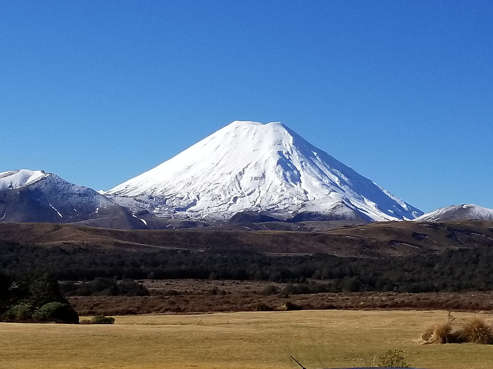 Mount Doom from Lord of the Rings, group tour to New Zealand