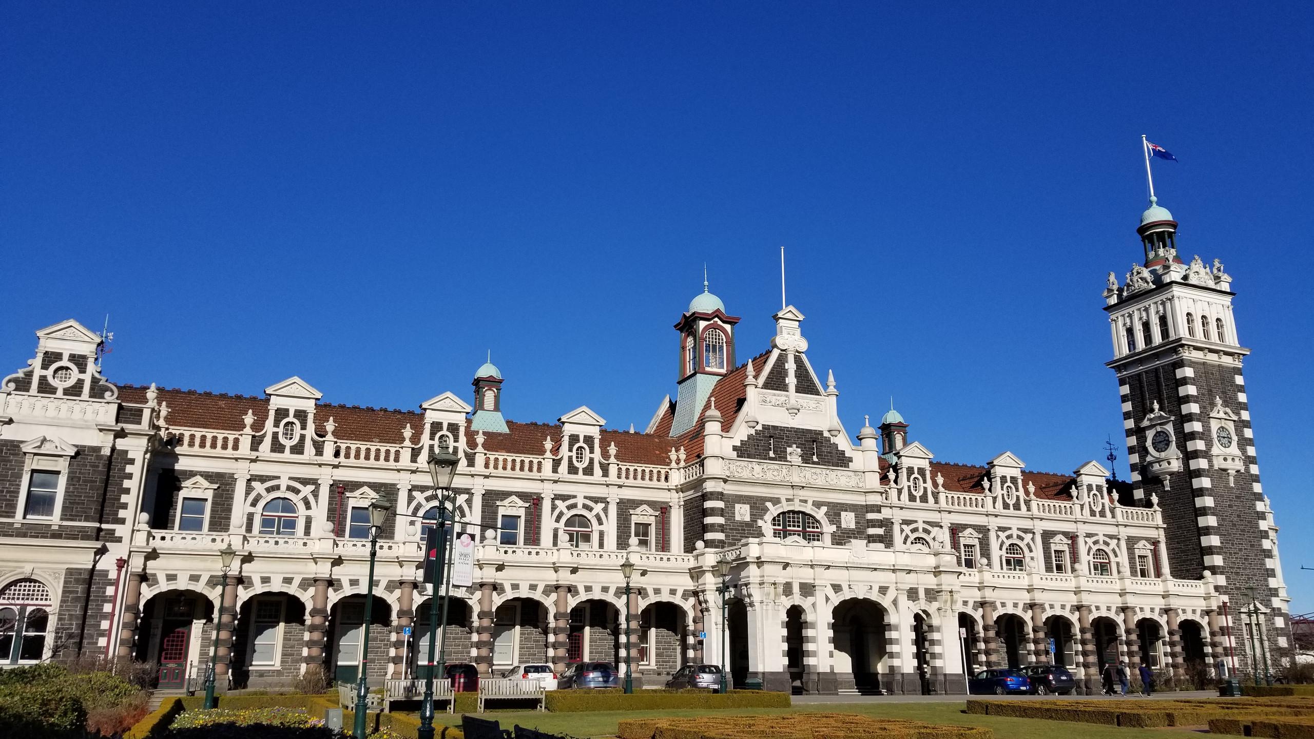 Железнодорожный вокзал Данидина (Dunedin) Новая Зеландия. Туры в Новую Зеландию. Экскурсии в новой Зеландии.