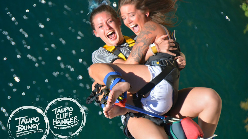 Tandem Taupo Bungy Jump 47m, New Zealand